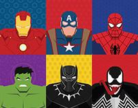 MARVEL Superhero Minimal ART