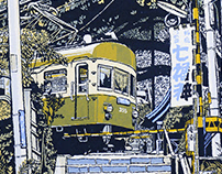 Japanese Street Scenes Screen Prints