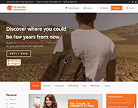 Bank Of Baroda- Concept Homepage Layout