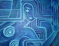 Electric Mermaid Mural