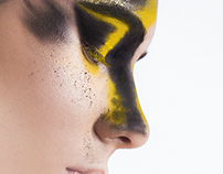 Retouch beauty - splash yellow and black