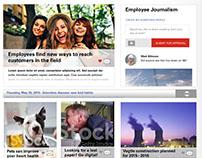 Newsletter Intranet Website Design (Desktop & Mobile)