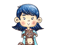 Doodle Children Character Illustration