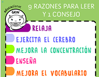 Poster promoting reading