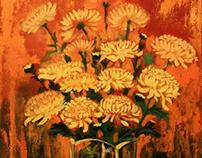 flower painting - vietnam artist painting