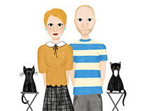 Digital Illustrated Family Portrait