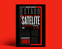 Satélite - Desplegable Tipográfico