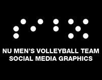 NU MEN'S VOLLEYBALL TEAM SOCIAL MEDIA GRAPHICS