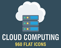 Cloud Computing Six Style Icons, 960 Icons