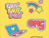 Snapchat x Martina Martian: Positivity Pack