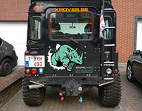 Car decals for a Land Rover Defender