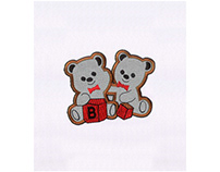 BLOCKS PLAYING LOVABLE BEARS APPLIQUE EMBROIDERY DESIGN
