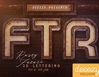 Rusty Future FREE 3D Lettering