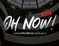 Oh Now! Font Free for Commercial Use