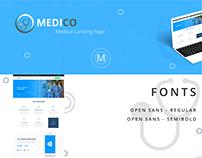 Medico - Webdesign Landing Page