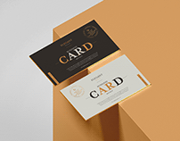 Free Elegant Brand Business Card Mockup
