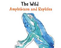Children's Illustration Book-The Wild Amphibians and--