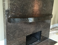 Glass Fireplace Mantle
