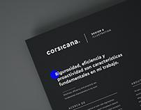 Corsicana © | Branding update