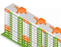 Isometric Building Concept      | evromisto.ua |