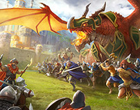 Dragons of Atlantis: Mobile - Marketing Art