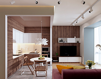 Interior design of small apartment.