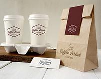 Branding y Packaging Coffee Break Cafeteria