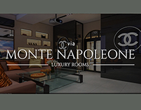 Monte Napaleone.Chanel cabinet.