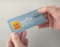 """Grindstone Coworking """"Waffle Wednesdays"""" Collateral"""