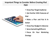 Things To Consider Before Developing iPad App
