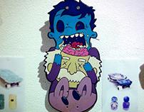 Zombie skateboard deck illustration - Beards on Boards