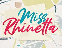 FREE FONT // Miss Rhinetta