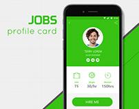 JOBS - Profile Card - app design concept