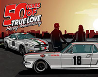 Ford Mustangs Freddy Van Beuren •50 Years of true LOVE•