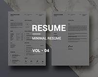 Minimal Resume VOL-04