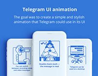 Telegram UI animation (lottie, json)