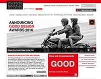 Web design for The Chicago Athenaeum Museum