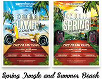 Exploring Spring Break Jungle & Summer Beach Flyer