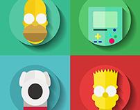 Flat Character Design (Cartoon Version)