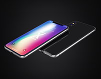iPhone X Realistic Mock-Ups
