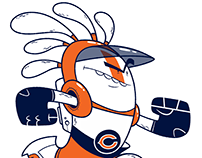 Chicago Bears branded critter