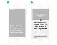 USA Today Redesign - Process
