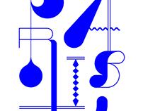 Bleu Électrique (identity & t-shirt design)