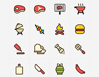 Barbecue Vector Icons