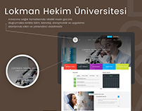 Lokman Hekim Üniversitesi Web Arayüz Tasarımı