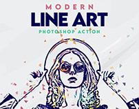 Modern Line Art Effect Photoshop Action