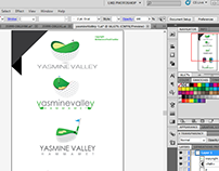 Yasmine Valley  logo conception
