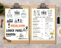 Menu Design for The Roll Company, Mumbai