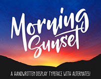 Free Font of the Week - Morning Sunset