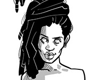 Estudos para quadrinhos. --- Studies for comics.